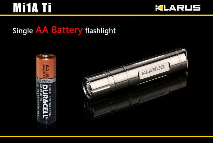 Klarus Mi1a Ti Titanium Cree Xp G2 Led Flashlight Eliteled
